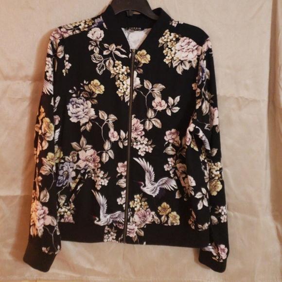 57580bae145 Torrid Floral Bomber Jacket. M 5b725cfdde6f6288984e7175